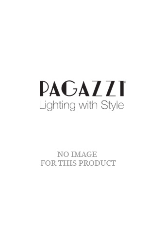 Bella 1 Light Silver and Glass Pendant Ceiling Light