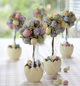 Easter Egg Trees from Contemporary Home