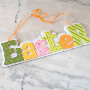 Easter Sign from Velvet Brown