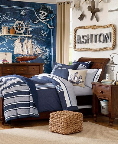 Pottery Barn Teen Bedroom Ideas Photograph Pirate Mural Fr